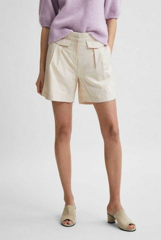 zand kleurige linnen short cecilie shorts 16078999