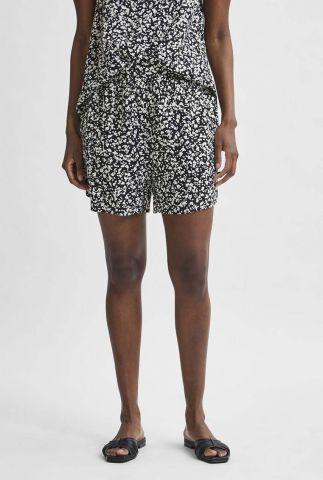zwarte short met witte print uma shorts 16079345