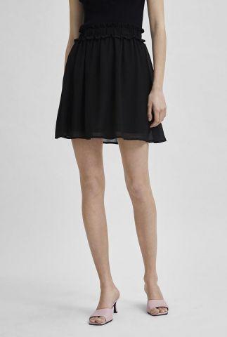 korte zwarte rok met ruches band sina short skirt 16079439