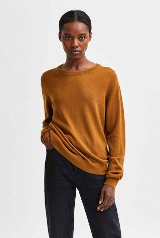 gebreide trui van merino wol magda o-neck noos 16079727