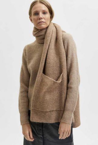 wollen sjaal met opgestikte zakken linna-mia pocket scarf 16080526