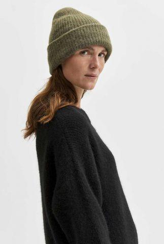 gebreide muts van wolmix linna-mia knit beanie 16080532