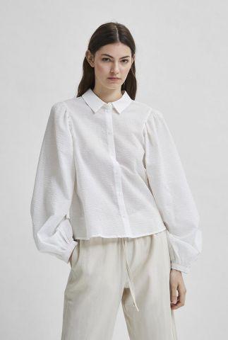 witte blouse met ingeweven structuur sera-nanna ls shirt 16082522