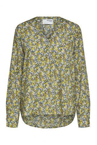 blouse met all-over print en v-hals greta-luna ls top 16085765