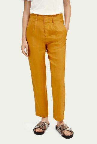 oker gele twill pantalon van viscose 161548