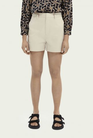 off white high waist chino short 161591