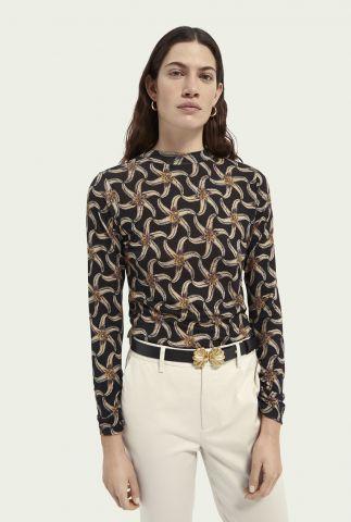 zwart shirt met zeesterren print 161695
