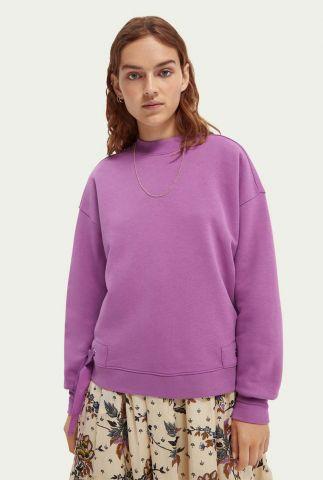 paarse sweater met strik details 162530