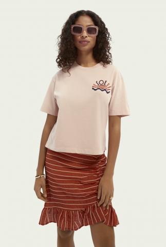 t-shirt van biologisch katoen met grafische opdruk 162809