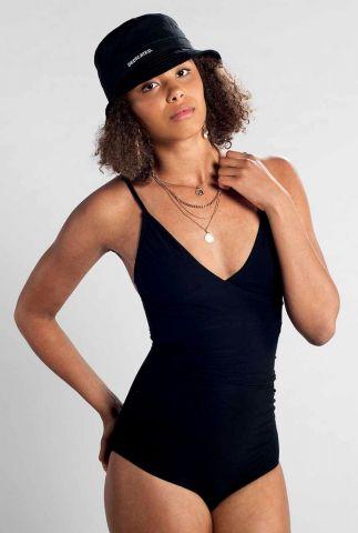 zwart badpak met v-hals klinte 17315