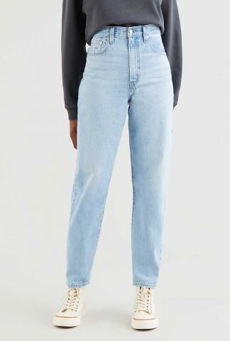 lichtblauwe high loose tapered jeans 17847-0008