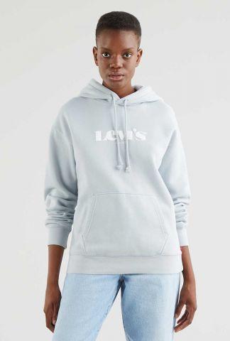 lichtblauwe logo sweater standard graphic hoodie 18487-0007