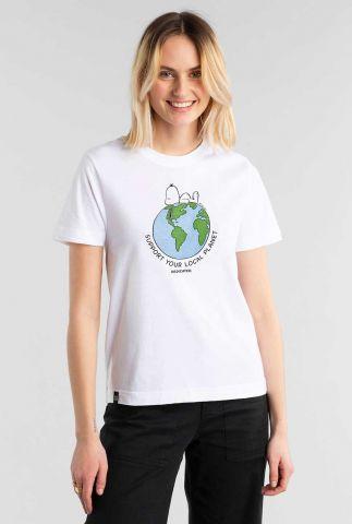 wit t-shirt met snoopy opdruk 18777 mysen earth white