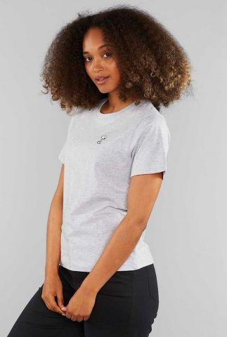grijs t-shirt met geborduurde snoopy 18773 mysen snoopy