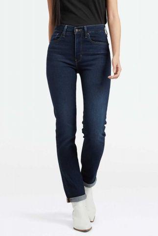 donker blauwe 724 high waist straight jeans 18883-0044