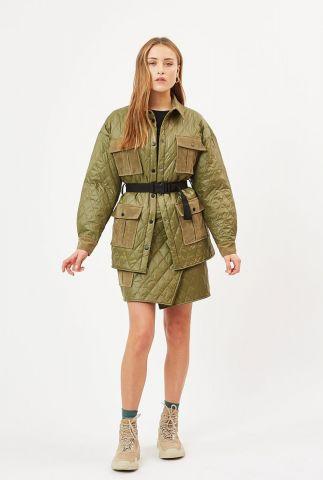 lichtgewicht legergroene jas met zakken blow