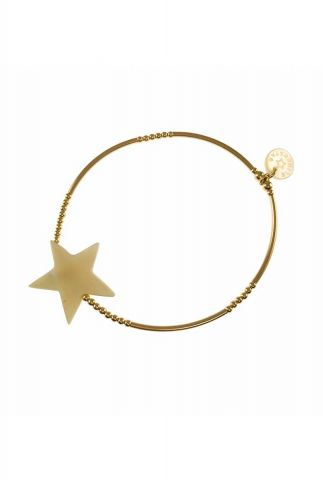 gouden elastische armband met ster 2001A36