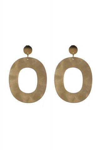 grote beige ovalen oorbellen 2001B21