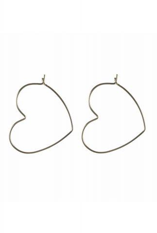 zilveren open hart oorbellen 2001B71