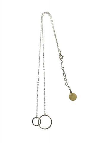 zilveren ketting met open crikels 2001K18