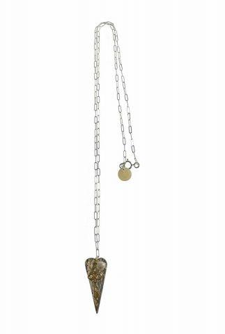 zilveren ketting met hart en sleutel hanger 2001K21