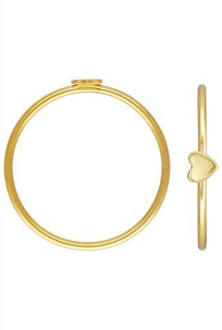 dunne gouden ring met hart maat L 2001R48