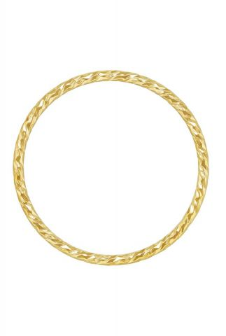 gouden ring met gedraaid dessin maat S 2001R49