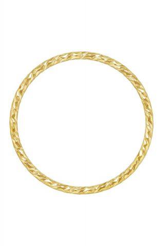 gouden ring met gedraaid dessin maat M 2001R50