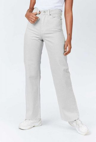 licht grijze straight jeans met high waist 2010108 echo