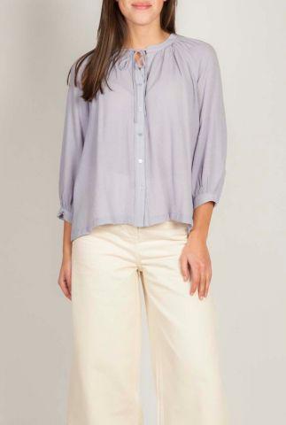 losvallende blouse met strik detail en 3/4 mouwen 20111140