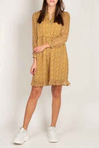 losvallende jurk met gevlekte all-over print 20121193