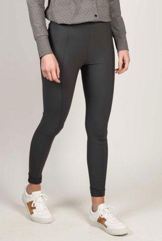 antraciet kleurige slim fit legging met elastische tailleband 201ella