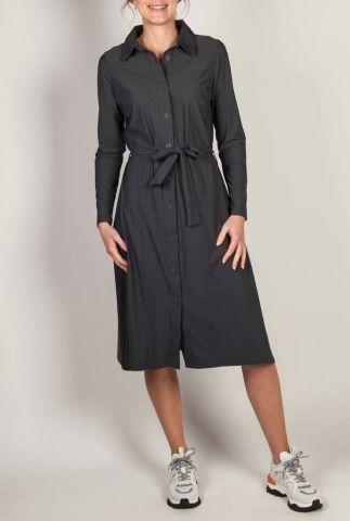 donker grijze jurk met ceintuur 201romance