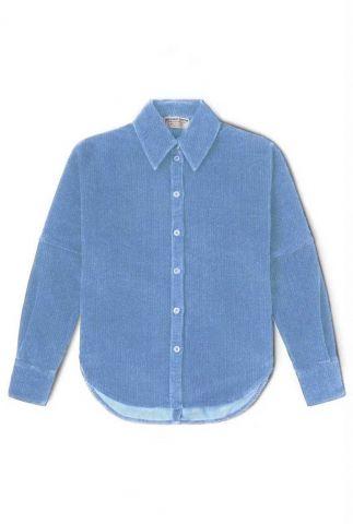 blauwe corduroy blouse marley corduroy shirt 202167