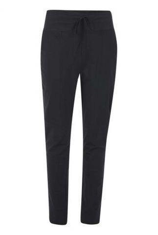 donkerblauwe mid waist broek van travelkwaliteit 213amber