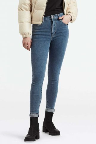 blauwe mile high super skinny jeans medium wassing 22791-0089