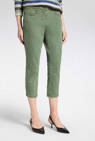 groene high waist enkel broek 24001609