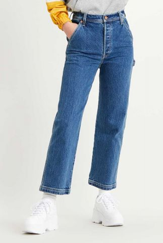blauwe highwaist 7/8 ribcage straight ankle utility jeans 26994-0000
