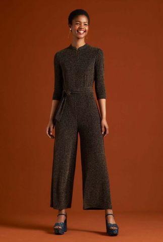 glitter jumpsuit met ceintuur chinese jumpsuit 05401