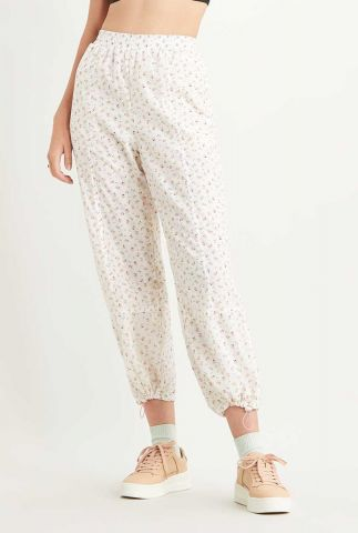 witte broek met bloemenprint drew windbreaker pants 28783-0001