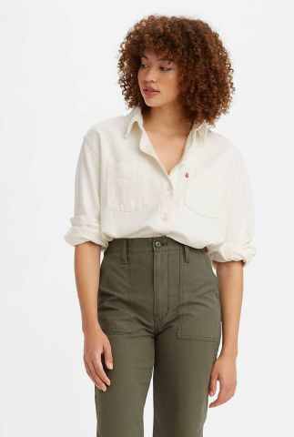 witte denim blouse zoey pleat utility shirt 29431-0004