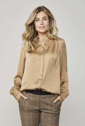 satijnlook blouse met ruches details 2s2457-11234