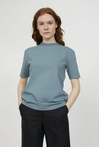 blauw t-shirt met geborduurd logo taara 30001160