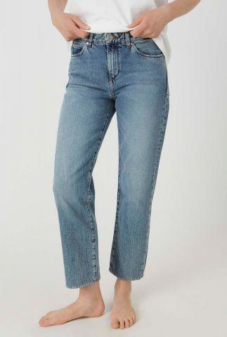 lichte jeans met rechte pasvorm fjellaa cropped 30001253
