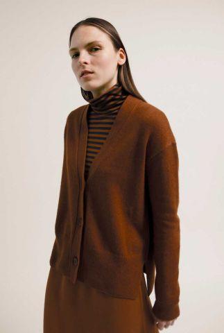 roest bruin vest van een duurzame wolmix olenkaa 30001426