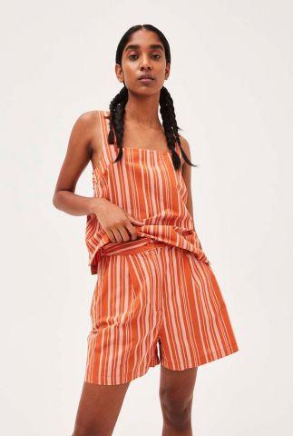 oranje short met licht streep dessin leammaa stripes 30001927