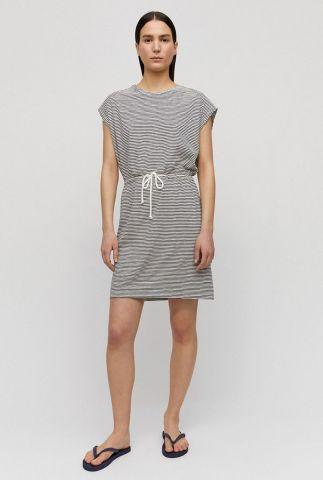 gestreepte jurk met trekkoord laaiko pretty stripes 30002019