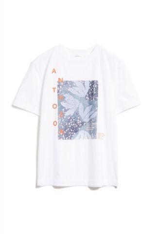 wit t-shirt van bio katoen met opdruk miaa anthozoa 30002079