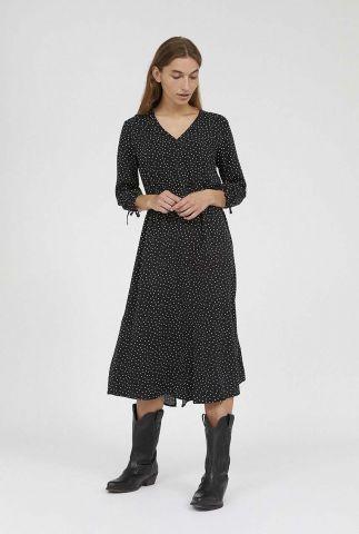 zwarte jurk met witte stippen weilaan easy dots 30002222