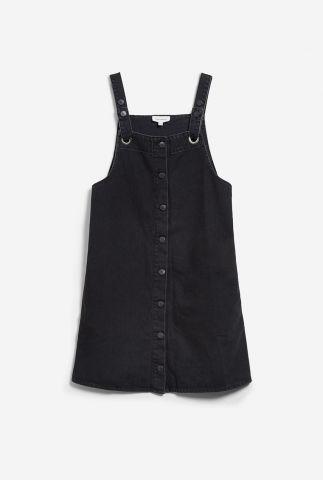 zwarte denim jurk met knoopsluiting dainaa 30002272